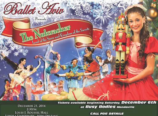 """BALLET AVIV presents """"THE NUTCRACKER: LAND of the SNOW and KINGDOM of the SWEETS""""   NEW ORLEANS, LA"""