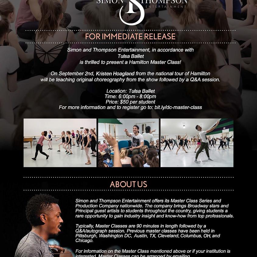 HAMILTON Master Class Series with Kristen Hoagland - Tulsa Ballet