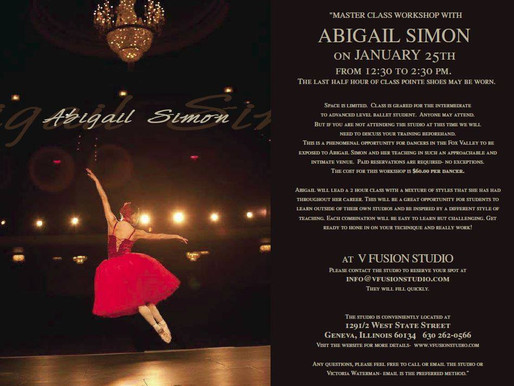 MASTER CLASS WORKSHOP WITH ABIGAIL