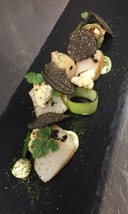 Starter - Scallops with Truffle