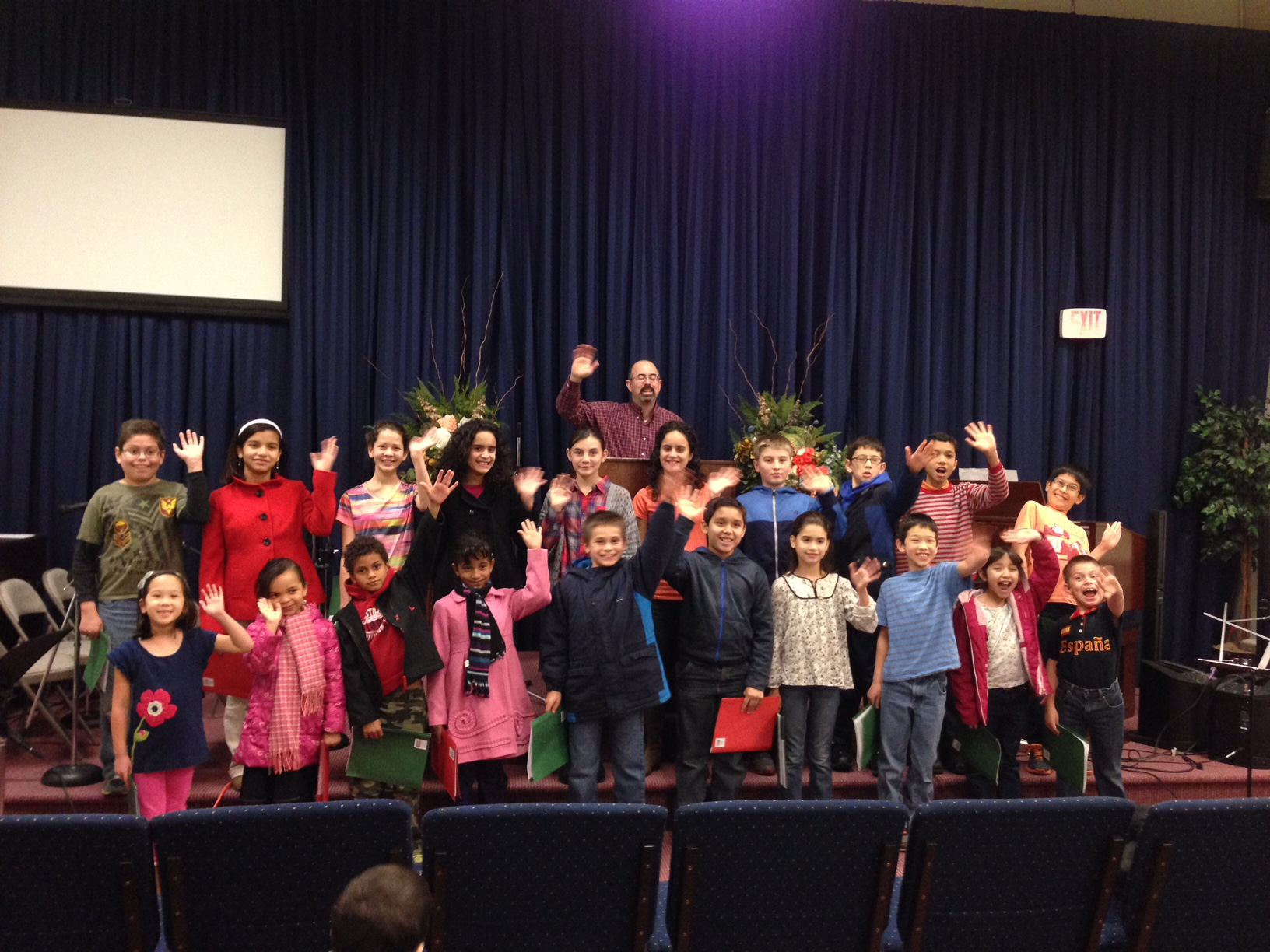 Kids choir practice November 2014