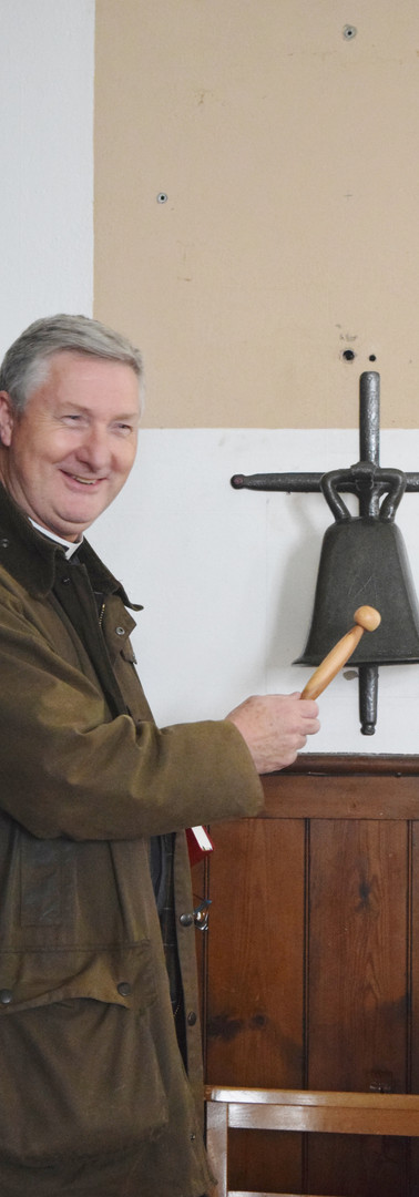 James ringing the bell