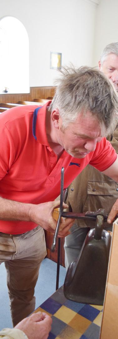 Robert attaching bell