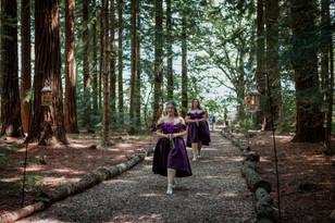 Rustic Woodland Twilight Wedding Two Woods