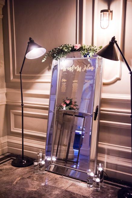Mirror Tableplan Andaz London