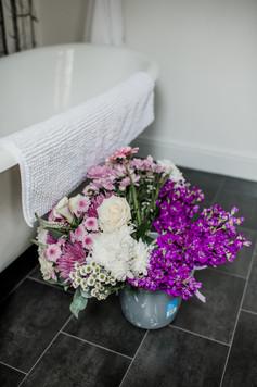 Handmade Bridal Bouquet Purple
