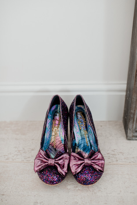 Irregular Choice Purple Bridal Bow Shoes