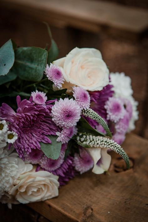 Purple Handmade Floral Bouquet