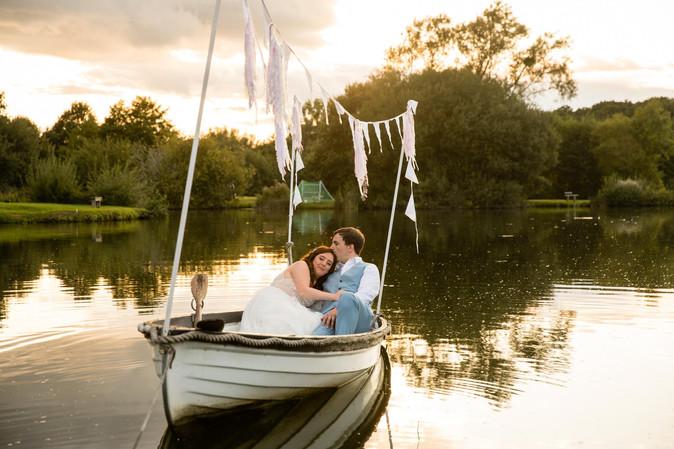 Romantic Wedding Couple Boat.JPG