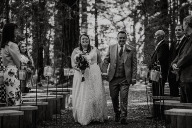 Bride Aisle Walk Rustic Wedding