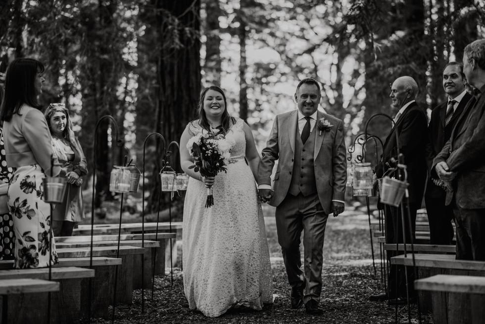 Bride Aisle Walk Rustic Wedding