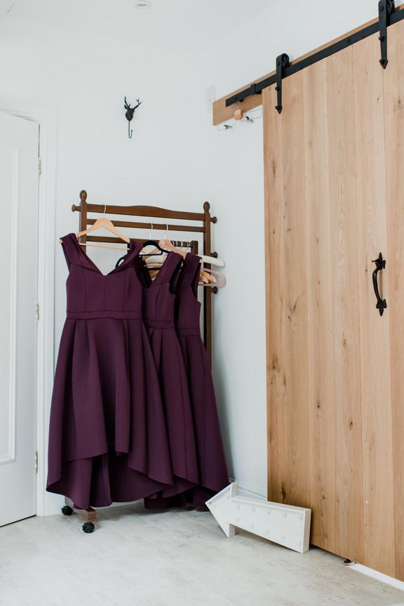 Purple Bridesmaids Gowns