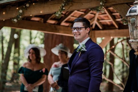 Purple Grooms Suit First Look