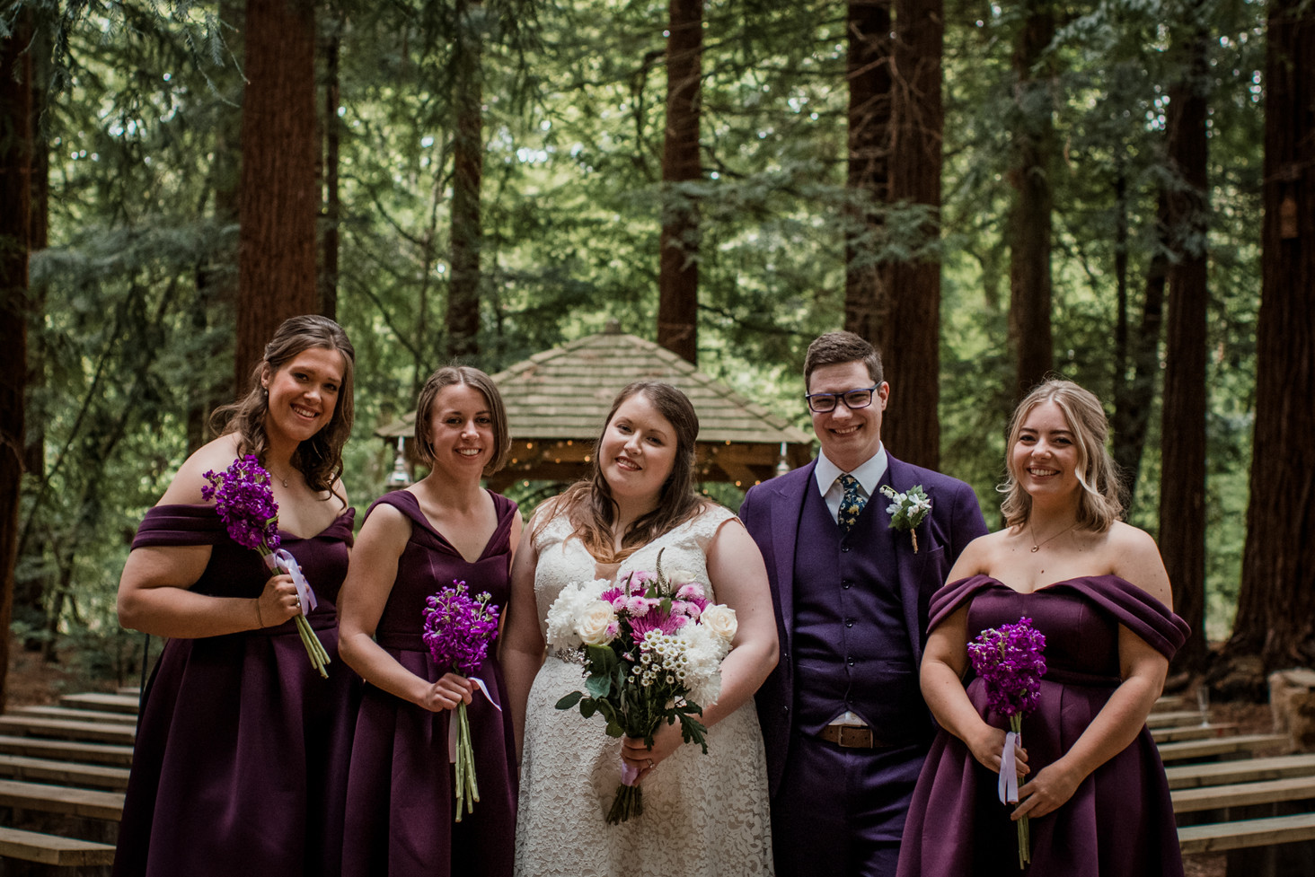 Purple Wedding Theme Woodland