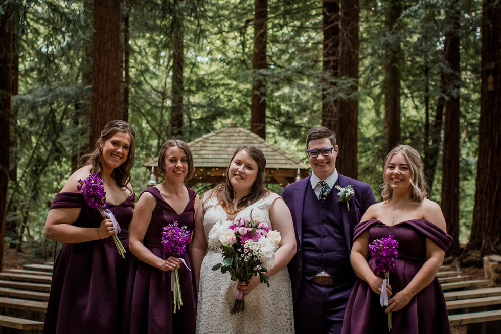 Purple Wedding Theme Woodland