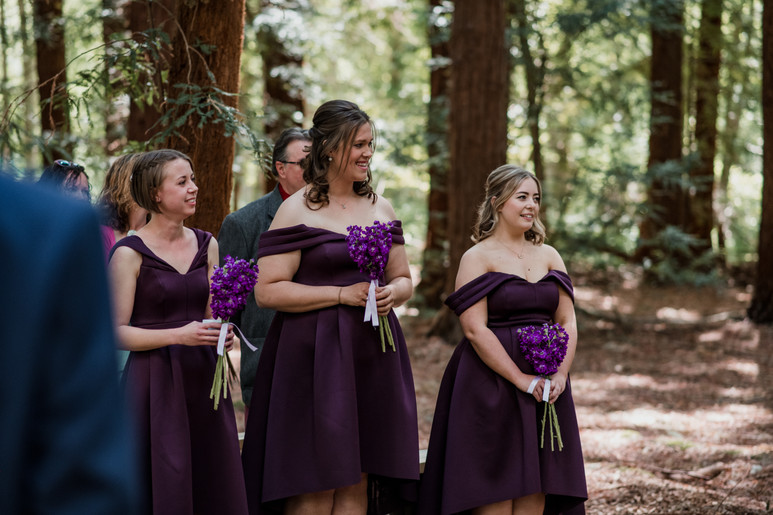 Purple Bridal Dresses Woodland