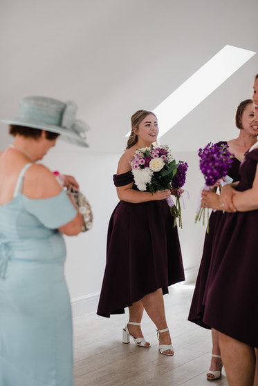 Bridesmaids Purple and White