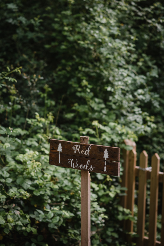 Two Woods Redwoods Sign