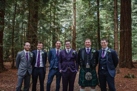 Purple Groomsmen Suits