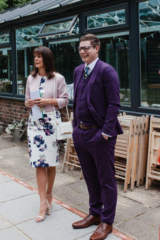 Purple Dinosaur Themed Groom