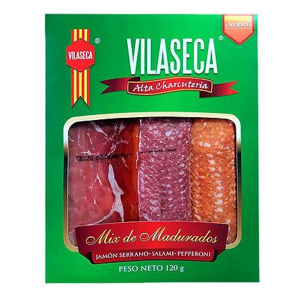Mix de madurados Jamón Serrano Salami  Pepperoni