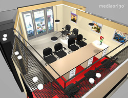 Utazási iroda 3D terv