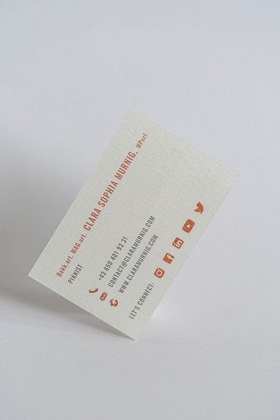 clara murnig visitenkarten