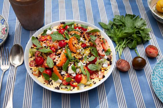 Sweet Corn and Heirloom Tomato Salad
