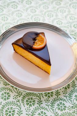 Gluten Free Clementine Almond Cake with Chocolate Glaze
