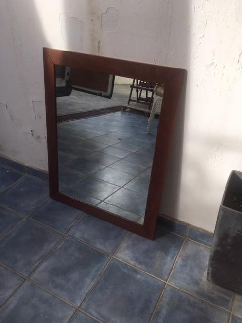 Dark wood mirror
