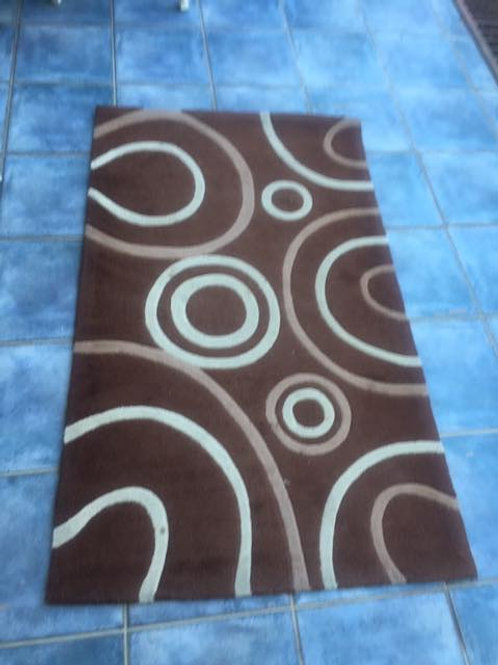 Modern brown and cream rug