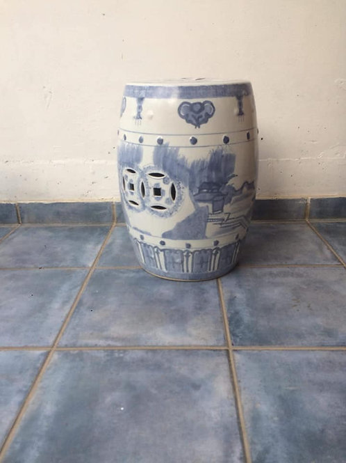 Ceramic barrel plant stand