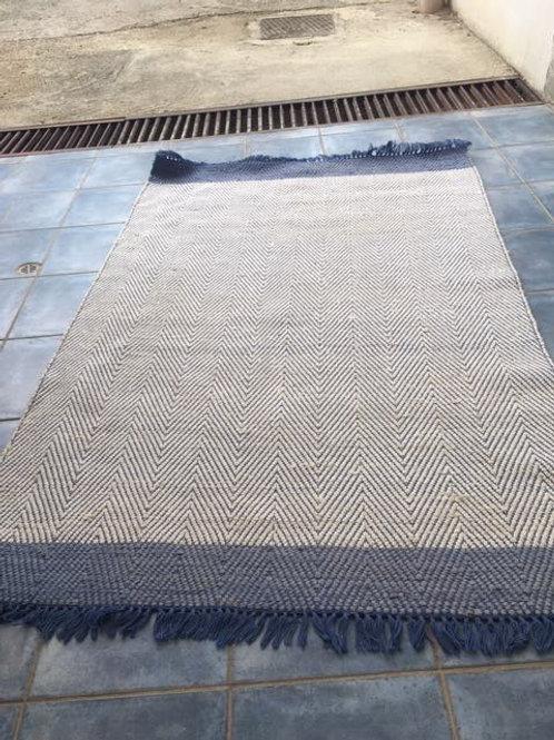 Blue weave rug