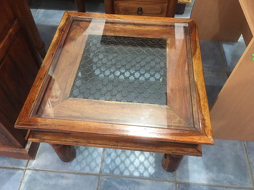 Indian wood and lattice occasional table