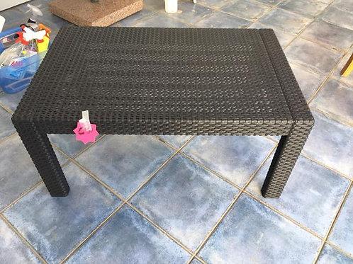 Black rattan coffee table