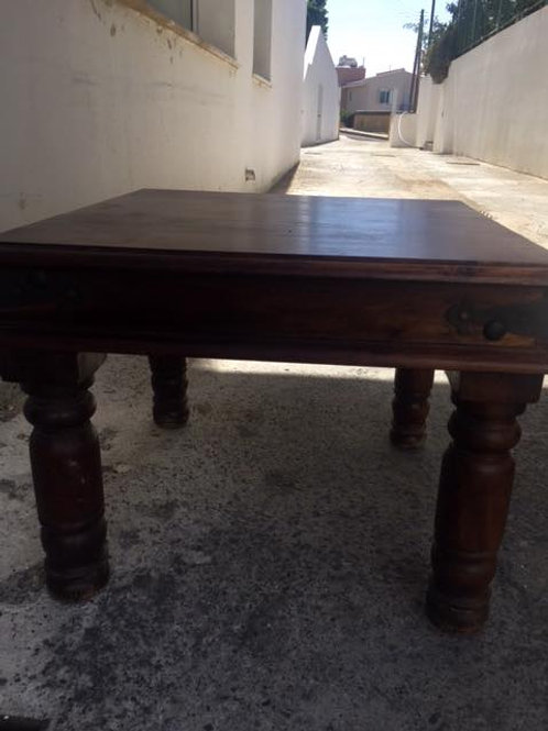 Square 60cm coffee table in Indian wood