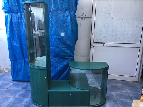 Unique green display cabinet (three units)