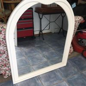 Large oval white mirror 108x88