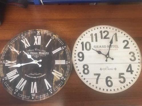 Wall clocks in good working order