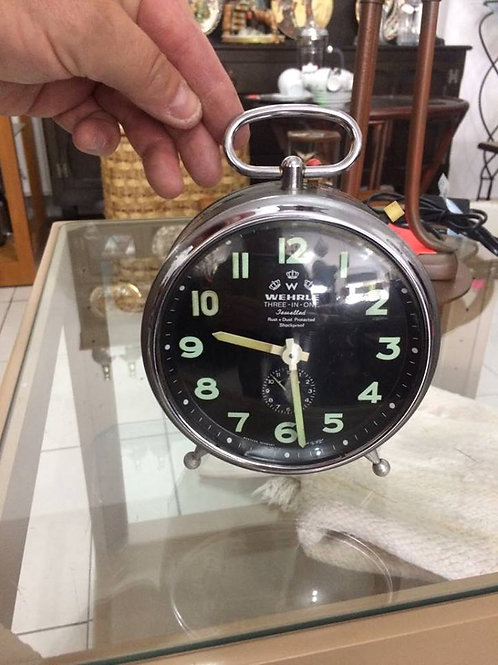 Vintage Wehrle alarm clock Striking mantel clock