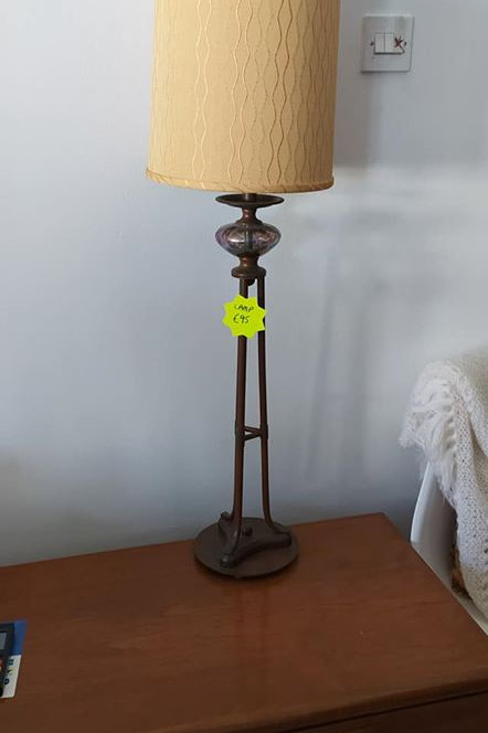 Brand new lamp with glass detail