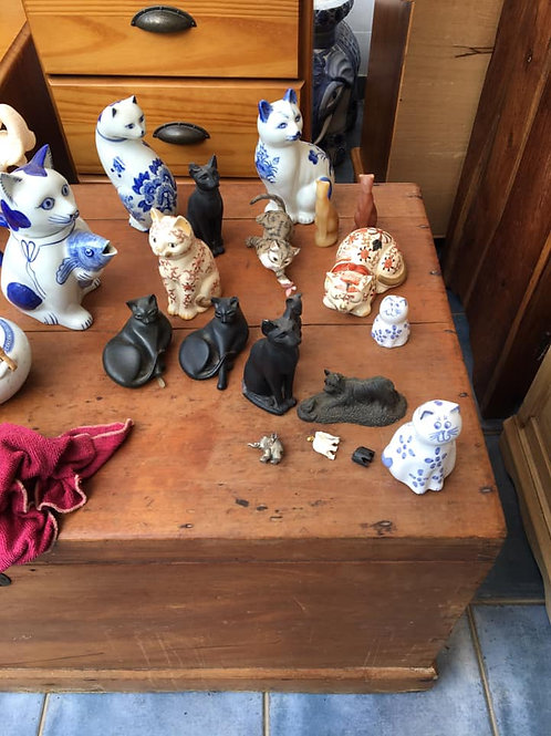 Collection of cat ornaments