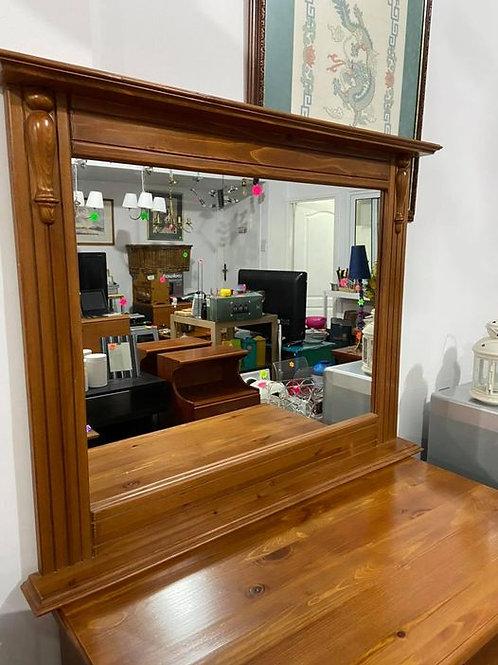 Handmade farmhouse pine mirror