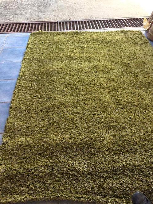 Lovely green shag pile rug