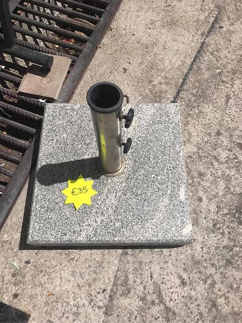 Heavy granite umbrella stand
