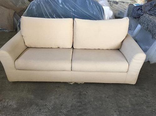 Cream sofa bed 200x88x77h bed 140x175