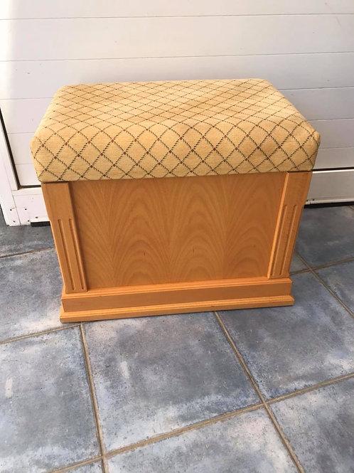 Good quality handmade heavy wood dressing table stool