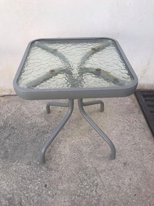 Grey outside small aluminium table