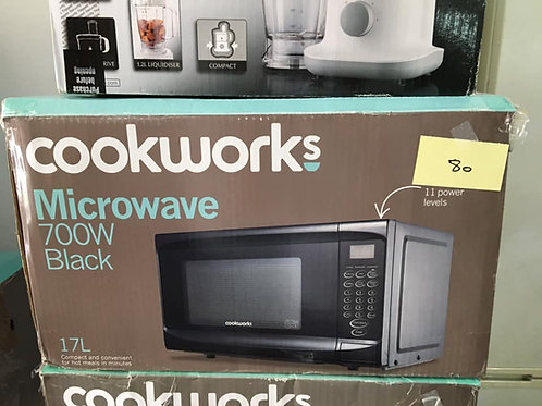Various brand new microwaves black, silver, red or white