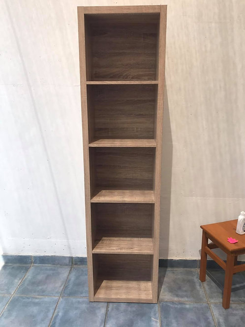 Good quality light wood with grain effect shelving unit